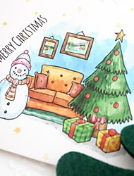 cheap -5pcs Christmas Decorations Christmas Ornaments Cards