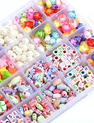 cheap -Manual Creative Beads The Latest Children's Educational Toys Diy Acrylic Plum Shape Box