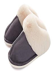 cheap -womens slipper memory foam fluffy soft warm slip on house slippers,anti-skid cozy plush for indoor outdoor dark grey 9.5-10.5