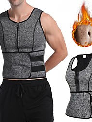 cheap -Sweat Waist Trainer Waist Trainer Corset Vest Adjustable Waist Belt Sports Neoprene Home Workout Fitness Gym Workout Adjustable Tummy Control Hot Sweat Calories Burned For Men Women