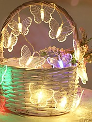 cheap -3M 20LEDs Butterfly Garland Fairy LED String Lights Battery Powered 1.5M 10LEDs Outdoor Garden Wedding Birthday Party Girls Room Decoration Lights