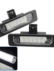 cheap -2Pcs 2W 12V 6500K LED License Plate Lamp Pair For Ford Flex 2009-2018 Ford Focus 2008-2012 Ford Mercury Milan 2006-2011  Lincoln MKZ