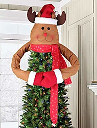 cheap -deer christmas tree topper large christmas tree topper for christmas tree decoration