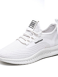 cheap -Men's Trainers Athletic Shoes Athletic Running Shoes Walking Shoes Mesh White Black Fall Spring
