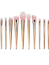 cheap -lookatool 12pcs make up foundation eyebrow eyeliner blush cosmetic concealer brushes (rose gold)