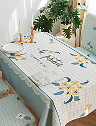 cheap -Thick Waterproof Tablecloth Square Tablecloth Decorative Kitchen Rectangular Tablecloth Floral 1 pc