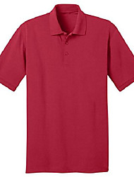 cheap -port & company men's 55 ounce jersey knit pocket polo s red