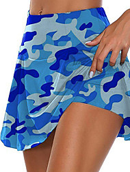 cheap -Women's Daily Wear Date Skirts Camouflage Blue Red Blushing Pink