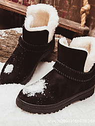 cheap -Women's Boots Snow Boots Platform Round Toe Booties Ankle Boots Casual Daily Walking Shoes Suede Solid Colored Winter Wine Black Beige / Booties / Ankle Boots / Booties / Ankle Boots