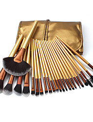 cheap -24 Makeup Brushes in Golden Bag New Beauty Tools Cosmetics Wood Color Makeup Brushes