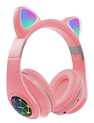 cheap -Cute Cat Earphones Bluetooth Wireless with LED Muisc Stereo Headphone With Microphone Children Daughter Earpieces Headset Gift
