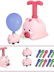 cheap -balloon powered launch car, balloon powered cars balloon racers aerodynamic cars stem toys, balloon air powered vehicle set, balloon race car toy creative inflatable balloon pump car(piggy)