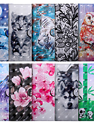cheap -Case For LG LG X Power 2 / LG Q7 / LG Q6 Plus Wallet / Shockproof / Flip Full Body Cases Animal / Flower PU Leather / TPU