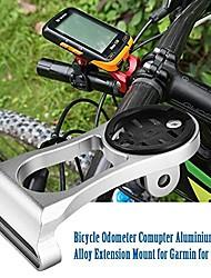 cheap -bicycle computer aluminium alloy extension mount holder sports camera handlebar extension bracket bike stem mount support(titanium)