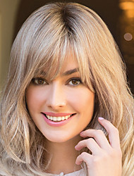 cheap -Synthetic Wig Curly With Bangs Wig Long Brown Synthetic Hair Women's Fashionable Design Exquisite Comfy Brown