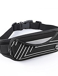 cheap -running belt waist pack, water resistant fanny pack light-reflective for running climbing hiking sports fitness, with phone holder for iphone samsung and most smartphones - silver