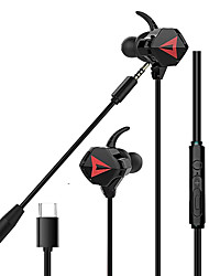 cheap -LITBest G901 In-Ear Gaming Earphones Type-C 3.5mm Wired Earbuds With Microphone Super Bass for Mobile Phone Ipod Headset Earbud Hands Free