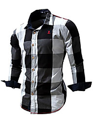 cheap -men's casual polka dots button down shirt,0031# navy,us m,asia 2xl