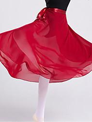 cheap -Ballet Skirts Bandage Women's Training Performance Natural Chiffon