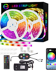 cheap -LED Strip Lights Smart RGB Strip 20M 10M Music Sync 5050 65.6ft and 32.8ft Color Changing Strips Bluetooth APP Control with Remote for Bedroom Room TV Party and 12V Power Supply and Mounting Bracket