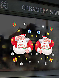 cheap -Electrostatic Glass Window Decorations Santa Gifts Holiday Window Background Decoration Removable Wall Stickers 60*90CM