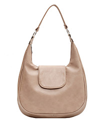 cheap -Women's Bags PU Leather Top Handle Bag Hobo Bag Daily 2021 Handbags Black Khaki Coffee