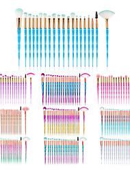 cheap -20 Pcs diamond handle makeup brush set colorful gradient eye makeup brush eye shadow brush beauty tool