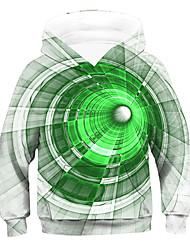 cheap -Kids Boys' Hoodie & Sweatshirt Long Sleeve 3D Drawstring Green Children Tops Active Children's Day