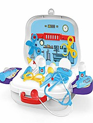 cheap -voberry doctor kits for kids, play doctor toy with heartbeat sound stethoscope, durable medical play set equipment in a solid carrying, educatiol medical kits for kids toddler girls boys (as show)