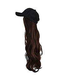 cheap -22 inches beautiful long hair wigs with baseball cap synthetic fiber, natural as human hair women's long curly body wavy wig hair replacements wig cosplay halloween party wigs daily wear