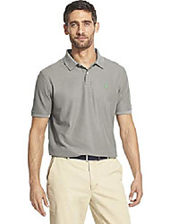 cheap -but& #39;s slim fit advantage performance short sleeve solid polo, light grey heather, small