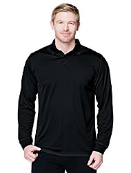 cheap -performance k020ls 100% polyester long sleeve polo - black - 3xl