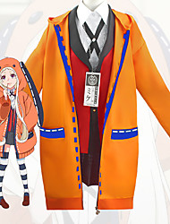 cheap -Inspired by Dangan Ronpa Kakegurui / Compulsive Gambler Yomoduki Runa Anime Cosplay Costumes Japanese Cosplay Suits Coat Blouse Top For Women's / Skirt / Socks / Necklace / Bow Tie / Skirt