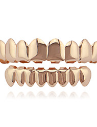cheap -Teeth Set / Teeth Grills Statement Stylish Luxury Unisex Body Jewelry For Halloween Street Copper Rose Gold Black Gold