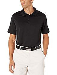 cheap -but& #39;s big slim fit short sleeve air performance ottoman stripe polo shirt, legacy black, large slim tall
