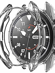cheap -protector case for samsung galaxy watch3,45mm soft tpu frame edge protective cover for watch3 sm-r840-clear