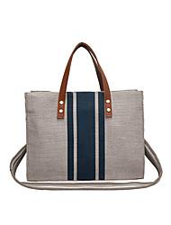 cheap -Women's Bags Canvas Top Handle Bag Outdoor Handbags Black Blue