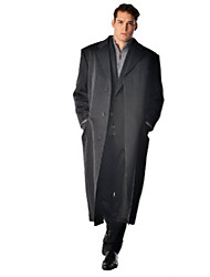 cheap -: men's full length coat overcoat topcoat in 100% pure cashmere (color: charcoal, size: 42)