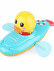 cheap -pull string baby bath toy pull & go kayak cute rowing duckling floating boat duck toys for baby children (blue)