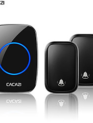 cheap -CACAZI Self-powered Wireless Doorbell Waterproof No Battery Chimes  Home Door 2 Button 1 Receiver