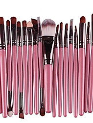 cheap -tonsee 20 pcs makeup brush set tools make-up toiletry kit wool make up brush set (pink)