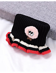cheap -1pcs Toddler Unisex Active Black / White Cartoon Knitted Acrylic Hats & Caps White / Black / Yellow One-Size