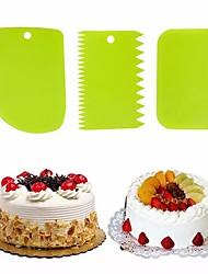 cheap -3 Pcs Baking Pastry Cream Scraper Teeth Edge DIY Scraper Cake Decorating Fondant Pastry Cutters Baking Spatulas Cake Tools