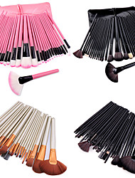 cheap -32 Pcs Makeup brushes set makeup eye shadow foundation brush pink makeup brushes with pu bag