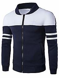 cheap -men's long sleeve zipper coat  fashion autumn winter sportswear patchwork jacket (navy, xxxx-large)