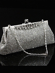 cheap -Women's Girls' Bags Alloy Evening Bag Crystals Wedding Event / Party Wedding Bags Handbags Silver