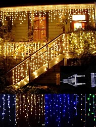 cheap -4m 13ft 96 LED String Lights Dip LED US Plug 110V-120V EU Plug 220V-240V Extendable Curtain Linkable 8 Modes Christmas Decorative Rope String Twinkle Light Warm Cold White RGB