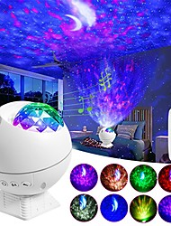 cheap -Star Projector Moon Starry Sky Night Light Rotating Nightlight Lamp For Children Kids Baby Room Decorated Lights Gift Christmas Decoration