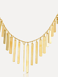 cheap -Women's Necklace Tassel Simple European Fashion Alloy Gold 37 cm Necklace Jewelry 1pc For