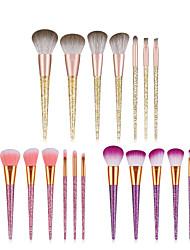 cheap -Factory direct sale new 7 diamond sequin makeup brush set PVC tube eye shadow brush full set of beauty tools